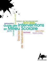 Guide des interventions en milieu scolaire 2019-2020