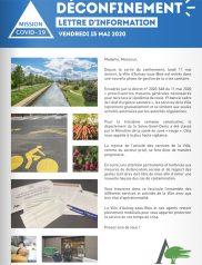 Covid-19 : Lettre d'information municipale - 15 mai 2020