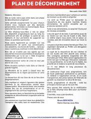 Covid-19 : Lettre d'information municipale – Plan de déconfinement