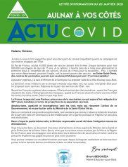 Covid-19 : Lettre d'Information Municipale - 20 Janvier 2021